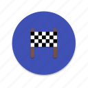 flag, interface, material design, stop icon