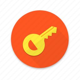 interface, key, lock, material design, unlock icon