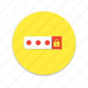 interface, lock, material design, off, on, switch icon