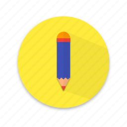 edit, interface, material design, paper, pencil, write icon
