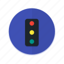 control, interface, material design, signal, traffic icon