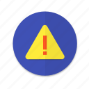 alert, interface, material design, notification, warning icon