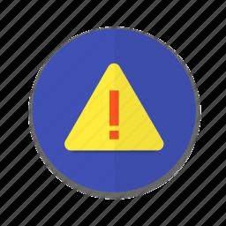 alert, interface, material design, notification, warning icon