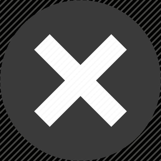 cancel, circle, close, cross, delete, exit, stop icon