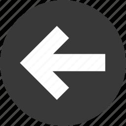 arrow, back, circle, left, move, next, previous icon