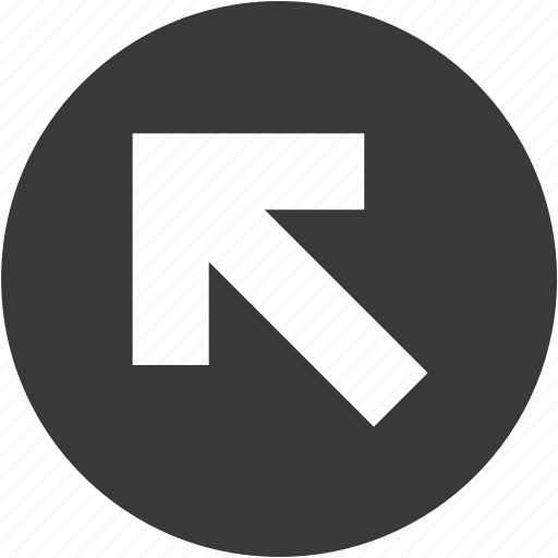 arrow, circle, direction, left, move, navigation, up icon