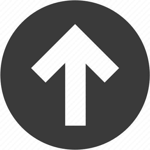 arrow, arrows, circle, direction, navigation, up, upload icon