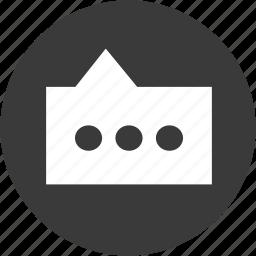 bubble, chat, chatboxes, circle, communication, conversation, message icon
