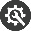 configuration, control, gear, preferences, repair, setting, system