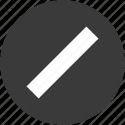 cancel, circle, close, delete, devider, remove, subtract icon
