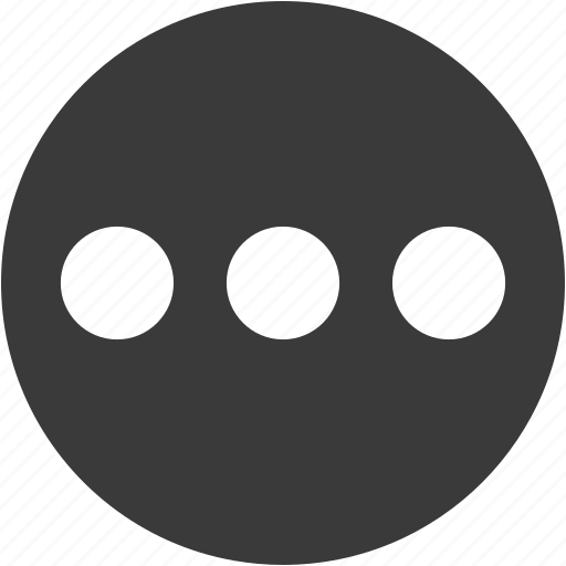 circle, continue, dot dot dot, ellipsis, menu, more, options icon