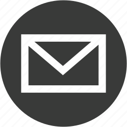 circle, email, envelope, letter, mail, message, send icon