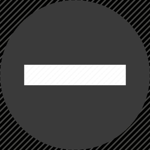cancel, circle, close, delete action, minus, remove, subtract icon