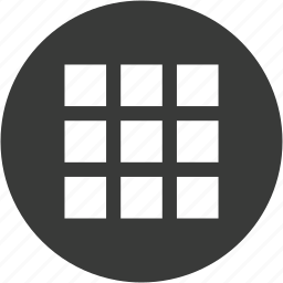 categories, circle, grid, layout, menu, squares, tiles icon