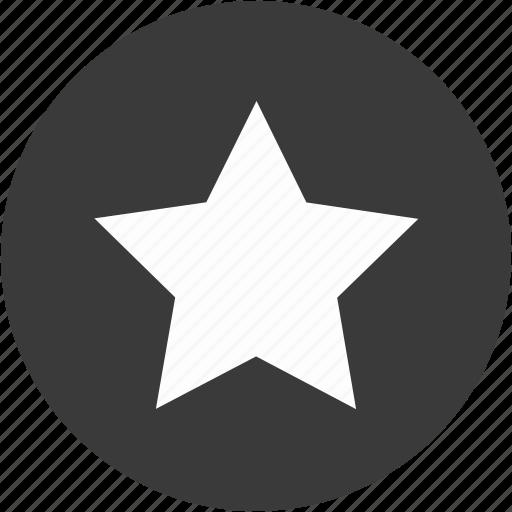 achievement, award, bookmark, circle, favorite, ranking, star icon