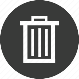 bin, circle, delete, garbage, recycle, remove, trash icon