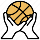 basketball, catch, scores, shoot, throw icon
