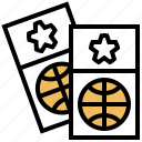 entrance, raffle, seat, sport, ticket icon
