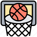 basketball, board, hoop, score, sport