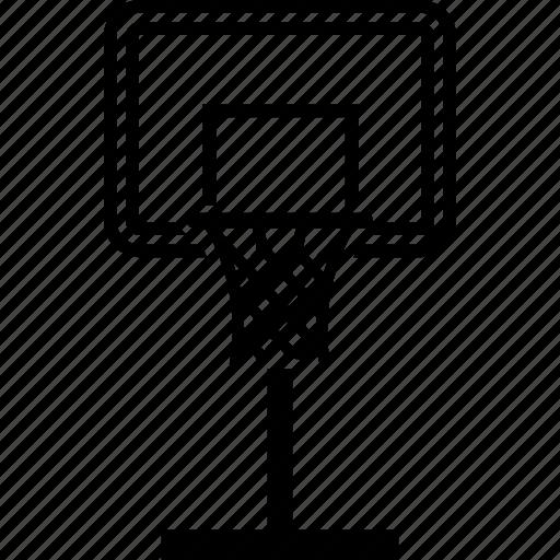 backboard basketball goal hoop net sports icon