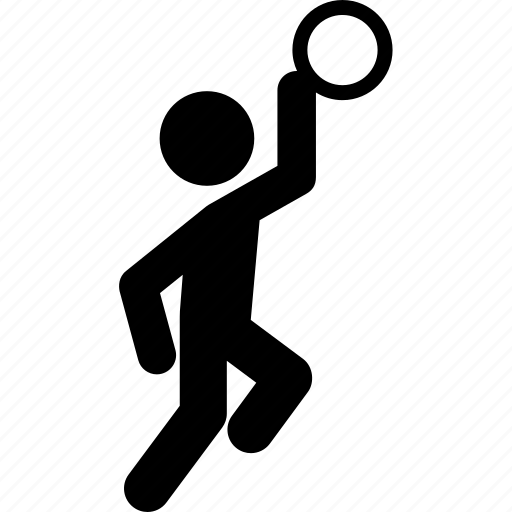 basketball, basketball player, layup, man, person, shot icon