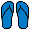 flipflop, sandal icon
