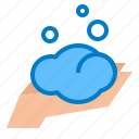 foam, hand icon