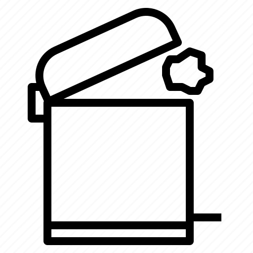 bin, can, junk, trash icon