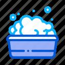 bath, bathing, bathrobe, foamy, tool, towel, water icon