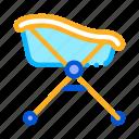 baby, bath, bathrobe, paper, tool, towel, wheels icon