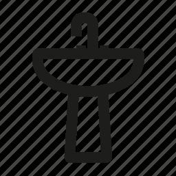 hitech, supply, toilet, water icon