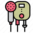 bathroom, cleaning, shower, washing, water icon
