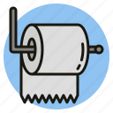 bathroom, hygiene, tissue, toilet icon