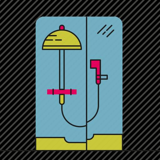 bathroom, clean, furniture, shower, water icon