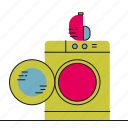 clean, laundry, machine, washing icon