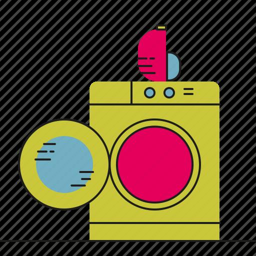 clean, laundry, machine, washing icon