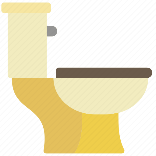 bathroom, objects, side, toilet icon