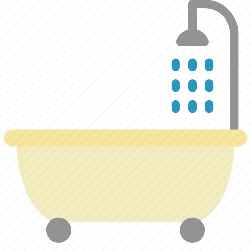 bathroom, bubble, objects, shower icon