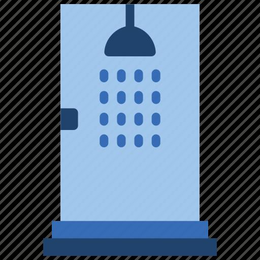 bathroom, objects, shower, single icon