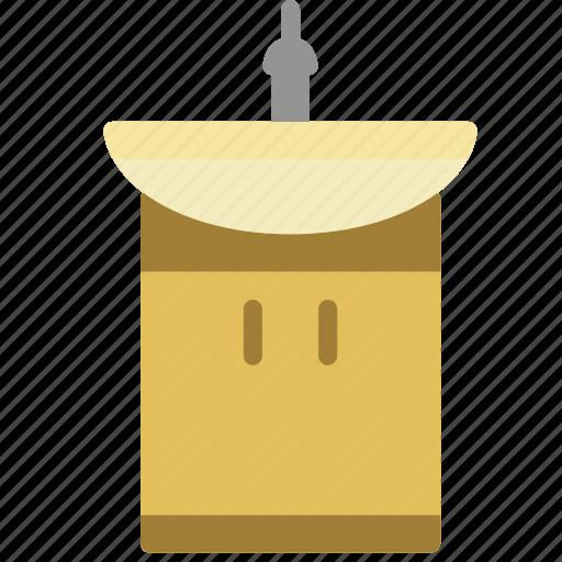 bathroom, cupboard, objects, sink icon