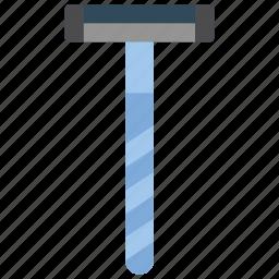 bathroom, objects, razor icon