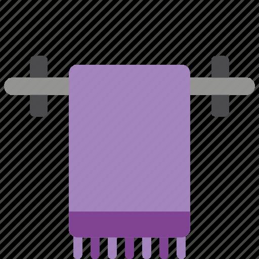 bathroom, objects, rail, towel icon