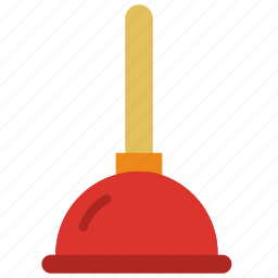 bathroom, objects, plunger icon