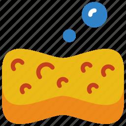 bath, bathroom, objects, sponge icon