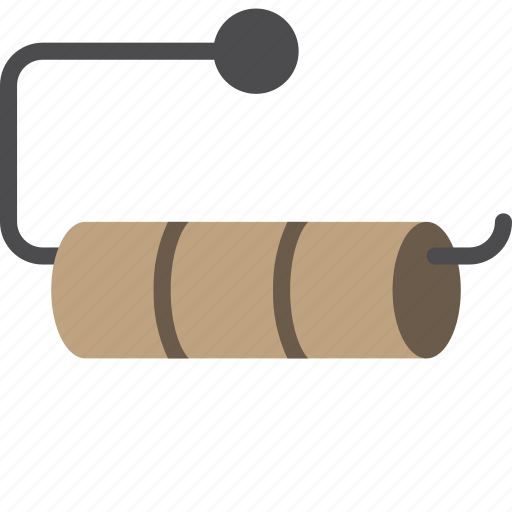 bathroom, objects, roll, toilet icon