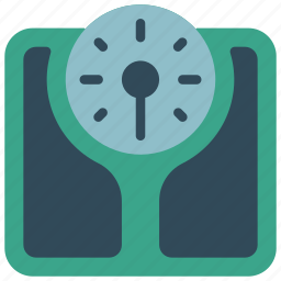 bathroom, objects, scales, weighing icon
