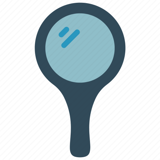 bathroom, handheld, mirror, objects icon