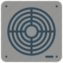 bathroom, extractor, fan, objects icon