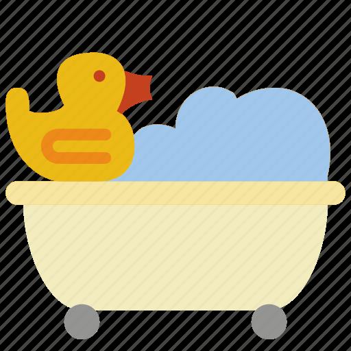 bath, bathroom, duck, objects, tuib, with icon