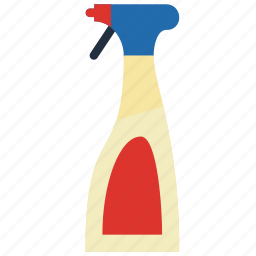 bathroom, cleaning, objects, spray icon